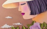 精美剪纸艺术壁纸 壁纸1 精美剪纸艺术壁纸 设计壁纸