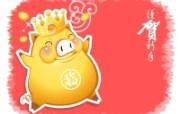 金猪贺新春 设计壁纸