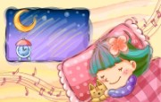 快乐童年插画 设计壁纸