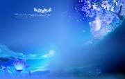 蓝韵雅逸 冰凉蓝色壁纸 壁纸4 蓝韵雅逸冰凉蓝色壁 设计壁纸