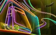 霓虹灯眩光线条描绘设计个性壁纸 壁纸7 霓虹灯眩光线条描绘设 设计壁纸