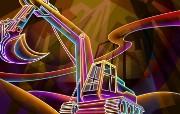 霓虹灯眩光线条描绘设计个性壁纸 壁纸21 霓虹灯眩光线条描绘设 设计壁纸