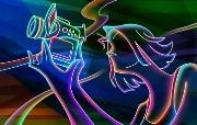 霓虹灯眩光线条描绘设计个性壁纸 壁纸23 霓虹灯眩光线条描绘设 设计壁纸