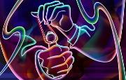 霓虹灯眩光线条描绘设计个性壁纸 壁纸26 霓虹灯眩光线条描绘设 设计壁纸
