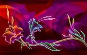 霓虹灯眩光线条描绘设计个性壁纸 壁纸73 霓虹灯眩光线条描绘设 设计壁纸