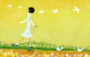 女孩专用 女孩的秘密梦花园宽屏壁纸 壁纸2 女孩专用:女孩的秘密 设计壁纸