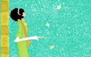 女孩专用 女孩的秘密梦花园宽屏壁纸 壁纸13 女孩专用:女孩的秘密 设计壁纸