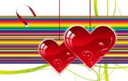 矢量爱的心形 设计壁纸