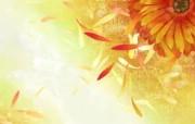 矢量艺术花纹花朵 宽屏壁纸 壁纸4 矢量艺术花纹花朵 宽 设计壁纸