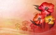 矢量艺术花纹花朵 宽屏壁纸 壁纸22 矢量艺术花纹花朵 宽 设计壁纸