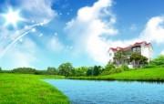 温馨家园 蓝天白云电脑设计壁纸 壁纸2 温馨家园 蓝天白云电 设计壁纸