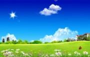 温馨家园 蓝天白云电脑设计壁纸 壁纸3 温馨家园 蓝天白云电 设计壁纸
