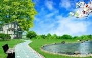 温馨家园 蓝天白云电脑设计壁纸 壁纸8 温馨家园 蓝天白云电 设计壁纸