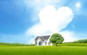 温馨家园 蓝天白云电脑设计壁纸 壁纸10 温馨家园 蓝天白云电 设计壁纸
