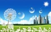 温馨家园 蓝天白云电脑设计壁纸 壁纸20 温馨家园 蓝天白云电 设计壁纸