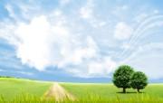 温馨家园 蓝天白云电脑设计壁纸 壁纸23 温馨家园 蓝天白云电 设计壁纸