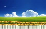 温馨家园 蓝天白云电脑设计壁纸 壁纸28 温馨家园 蓝天白云电 设计壁纸