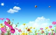 温馨家园 蓝天白云电脑设计壁纸 壁纸29 温馨家园 蓝天白云电 设计壁纸