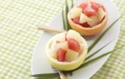 水果甜品 蜜柚胡柚壁纸 餐桌上的水果水果甜点摄影一 摄影壁纸