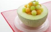 水果甜点 哈密瓜图片 餐桌上的水果水果甜点摄影一 摄影壁纸