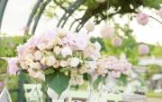 婚礼的花束 户外婚礼摄影壁纸 花园里的白色婚礼婚纱摄影壁纸 摄影壁纸