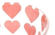 壁纸 杯子的心形图案图片壁纸 情人节心形小物品摄影 摄影壁纸