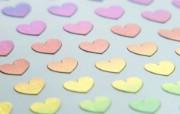 壁纸 心形图案图片壁纸 情人节心形小物品摄影 摄影壁纸