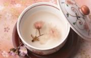 日本樱茶图片 日本樱花茶壁纸 日本茶道文化与健康饮品 摄影壁纸