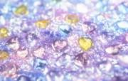 水晶珠宝的闪烁朦胧背景 闪亮的钻石水晶浪漫闪烁背景 摄影壁纸