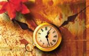 时间影像艺术的钟表 摄影壁纸