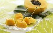 餐桌 33P 木瓜 水果甜点摄影图片 水果甜点摄影二 摄影壁纸
