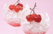 餐桌 33P 樱桃冰 水果甜点摄影图片 水果甜点摄影二 摄影壁纸