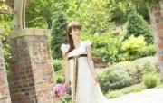 美丽新娘 公园里的白色婚礼 婚纱摄影壁纸图片壁纸 我们结婚吧 摄影壁纸