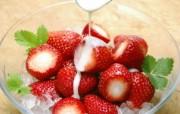 草莓甜点图片壁纸 新鲜草莓 摄影壁纸