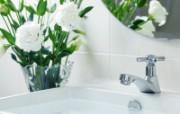 精致清新浴室图片 浴室小摆设摄影壁纸 摄影壁纸