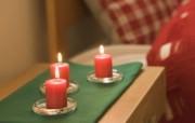 烛光和小摆饰家居浪漫气氛 摄影壁纸