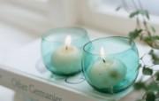 家居浪漫气氛 浪漫香薰蜡烛图片 烛光和小摆饰家居浪漫气氛 摄影壁纸