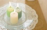 家居浪漫气氛 浪漫蜡温馨烛图片 烛光和小摆饰家居浪漫气氛 摄影壁纸
