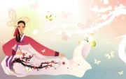 朝鲜族女性 2 19 朝鲜族女性 矢量壁纸