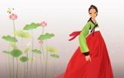 朝鲜族女性 2 18 朝鲜族女性 矢量壁纸