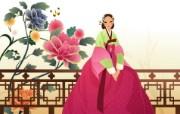 朝鲜族女性 2 17 朝鲜族女性 矢量壁纸