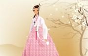 朝鲜族女性 2 15 朝鲜族女性 矢量壁纸