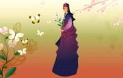 朝鲜族女性 2 13 朝鲜族女性 矢量壁纸
