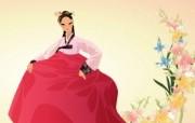 朝鲜族女性 2 12 朝鲜族女性 矢量壁纸
