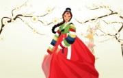 朝鲜族女性 2 11 朝鲜族女性 矢量壁纸