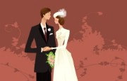 婚礼新娘 2 5 婚礼新娘 矢量壁纸