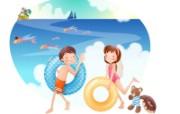 快乐暑假 2 18 快乐暑假 矢量壁纸