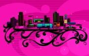 矢量花纹城市 1 28 矢量花纹城市 矢量壁纸