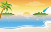矢量夏日海滩 1 19 矢量夏日海滩 矢量壁纸