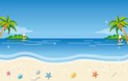 矢量夏日海滩 1 18 矢量夏日海滩 矢量壁纸